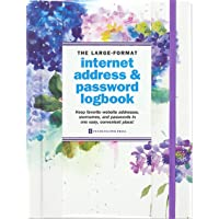 Hydrangeas Large-Format Internet Address & Password Logbook