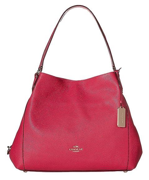 05d64f40dc COACH Women's Refined Pebble Leather Edie 31 Shoulder Bag LI/Cerise Shoulder  Bag: Amazon.ca: Shoes & Handbags