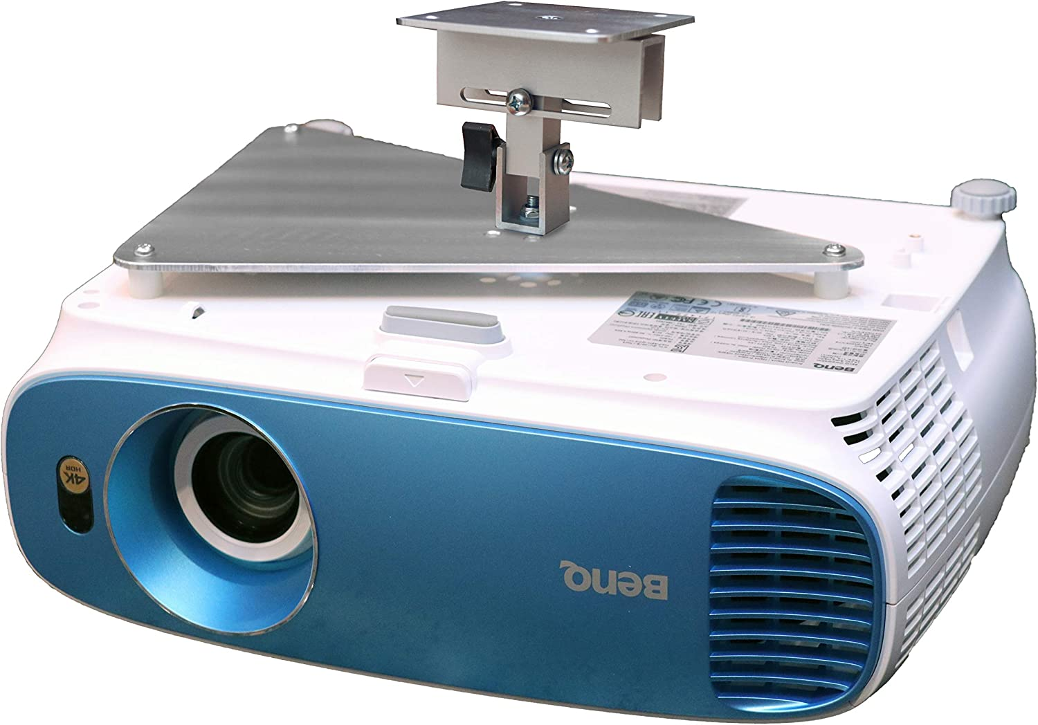 PCMD, LLC. Projector Ceiling Mount Compatible with BenQ TK800 TK800M with Lateral Shift Coupling (5-Inch Extension)