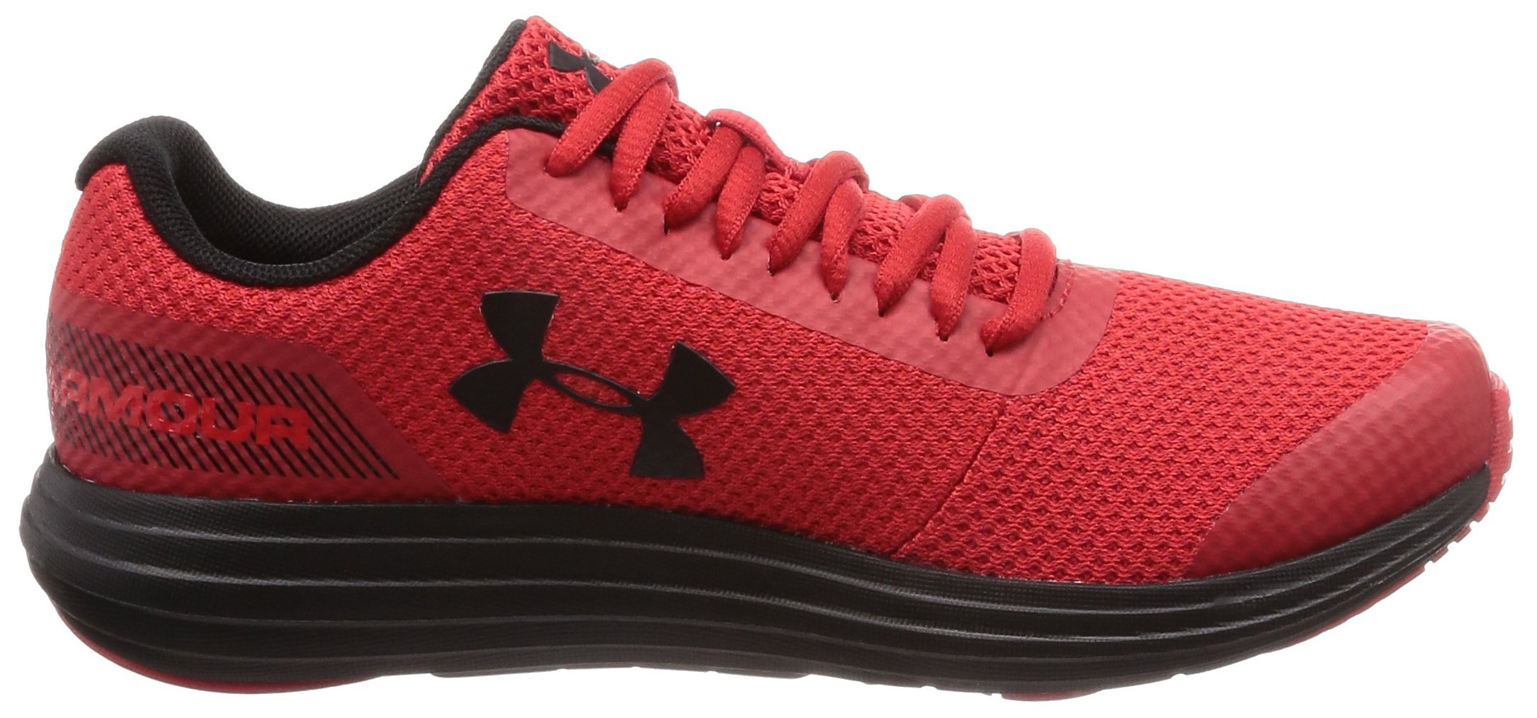 Under Armour Boys' Grade School Surge RN Sneaker, Red (600)/Black, 3.5 by Under Armour (Image #10)