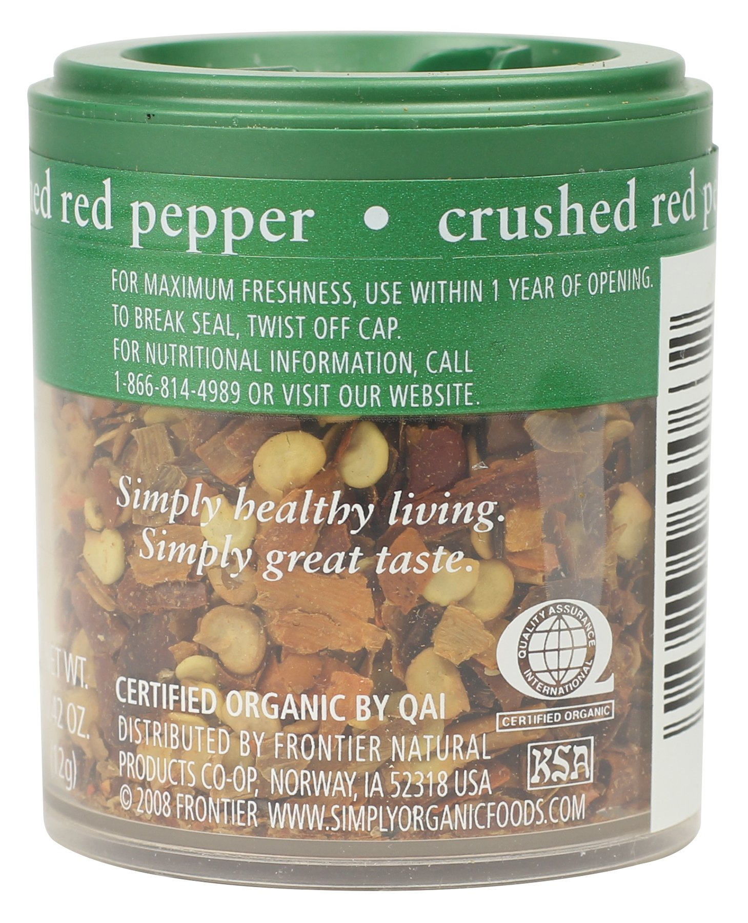 Simply Organic Red Pepper Crushed Certified Organic, 0.42-Ounce (Pack of 6)