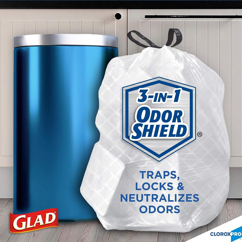 Glad Tall Kitchen Drawstring CloroxPro Trash Bags 13 Gallon 100 Count Free Ship