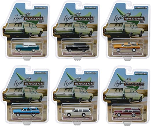 "/""Hollywood Series/"" Release 26 Set of 6 pieces 1//64 Diecast Model Cars by Greenl"