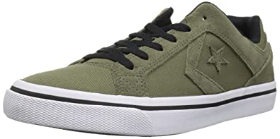 ba31c1e31fde Converse EL Distrito Canvas Low TOP Sneaker Field Surplus White Black 5 M US