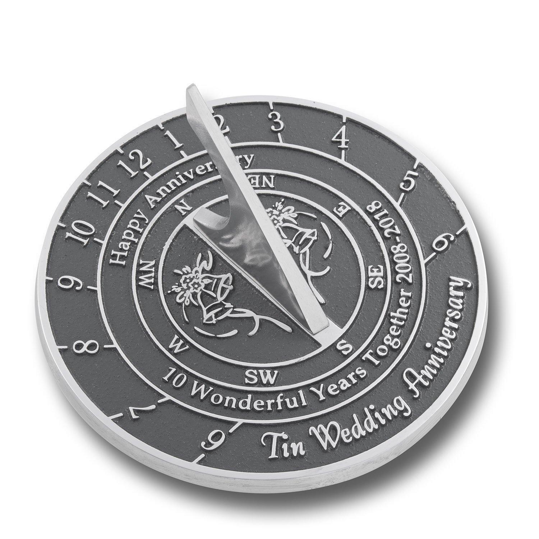 Tin Wedding Anniversary Sundial Gift by NAUTICALMART