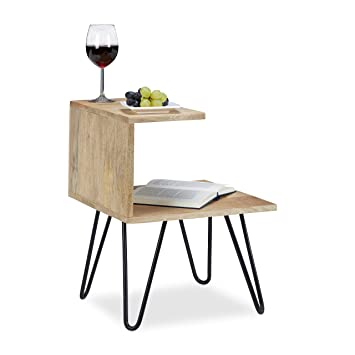 Relaxdays Table basse table appoint table chevet design original 2 ...