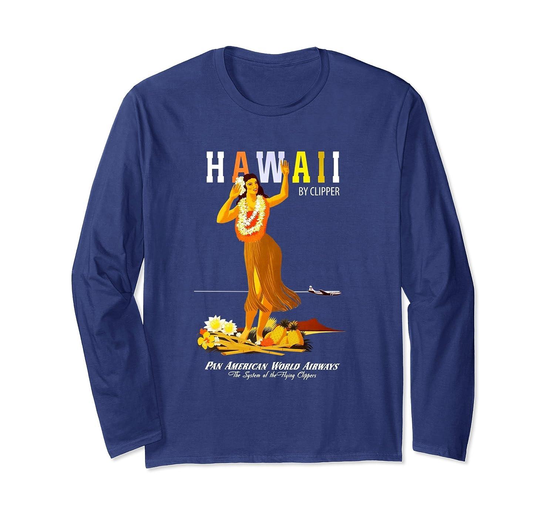 Vintage Hawaii Pan Am Travel Long Sleeve T-Shirt-mt
