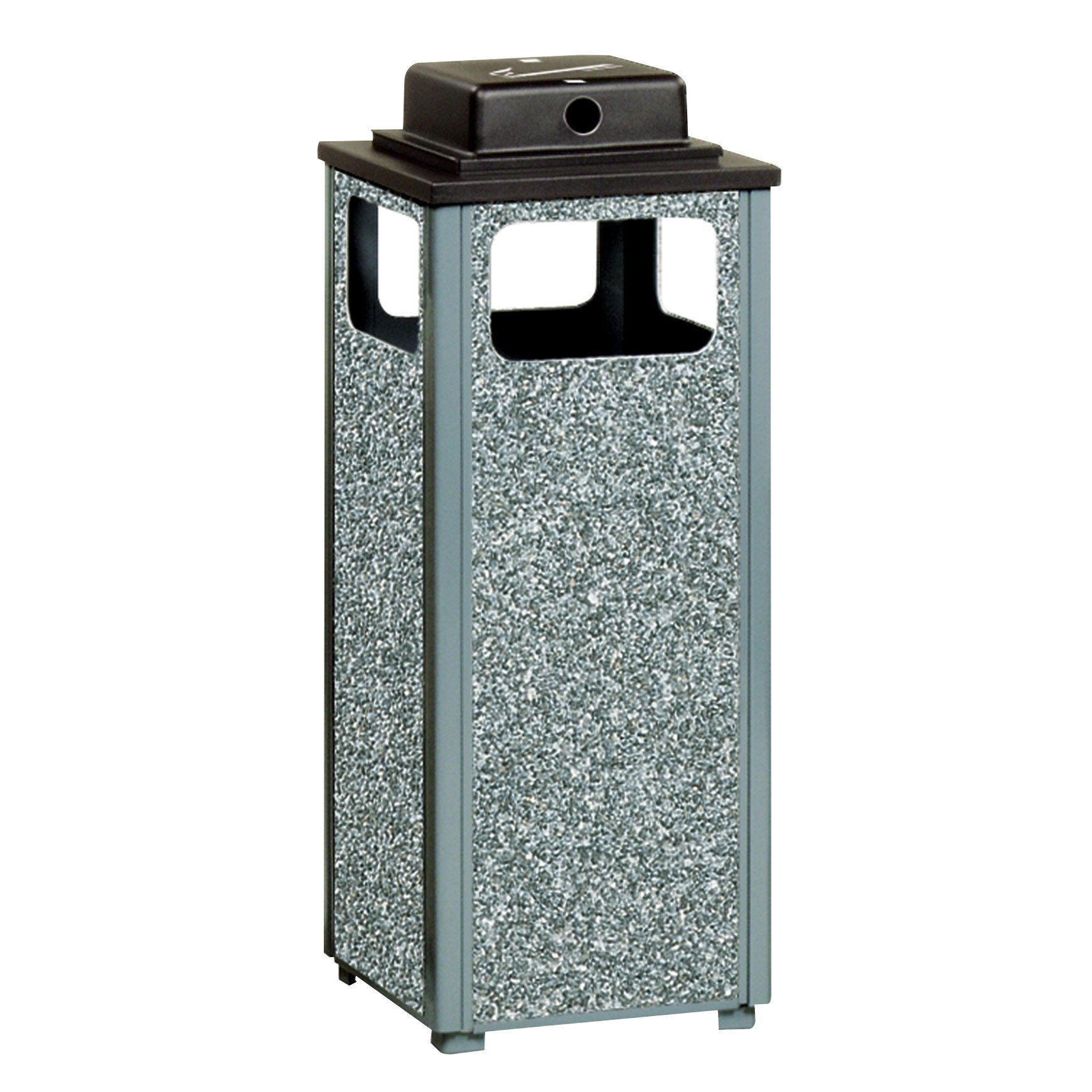 Rubbermaid Commercial Products FGR12WU2000PL Dimension 500 Series Ash/Trash Refuse Container with Weather Urn (12-Gallon)