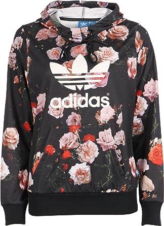 Adidas Rose Logo W Hoodie 32 black  Amazon.de  Bekleidung 7af86091d5