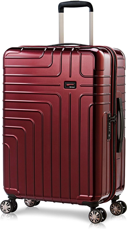 Eminent Maleta Helios 67cm 70L Ultra Ligera 4 Ruedas Dobles Candado TSA Rojo