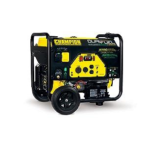 Champion Power Equipment 76533 3800 Watt Dual Fuel RV Ready Portable Generator with Electric Start