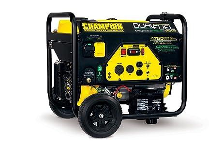 81IQcVFqYDL._SX463_ amazon com champion 3800 watt dual fuel rv ready portable Champion Generator Owner's Manual at fashall.co