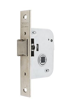 Tesa Assa Abloy, 200550HN Cerradura de embutir para puertas de madera, Entrada 50mm, Niquelado: Amazon.es: Bricolaje y herramientas