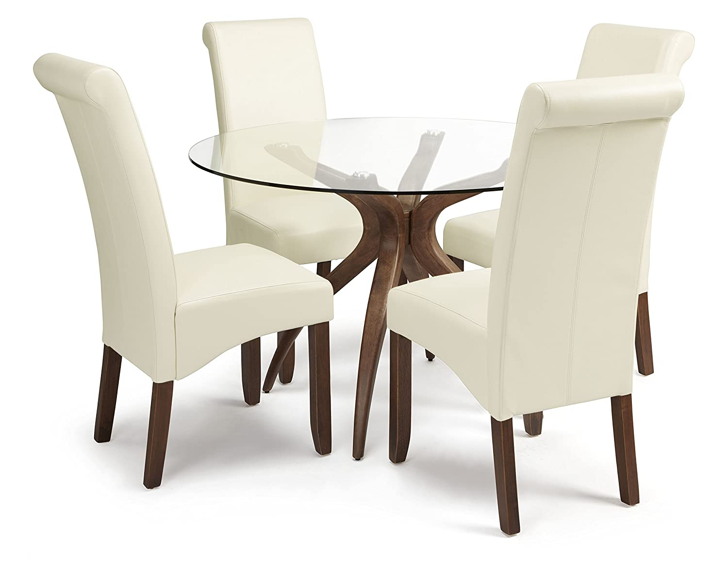 Serene Furnishings The Dining Collection Faux Leather Kingston - Leather dining chairs uk