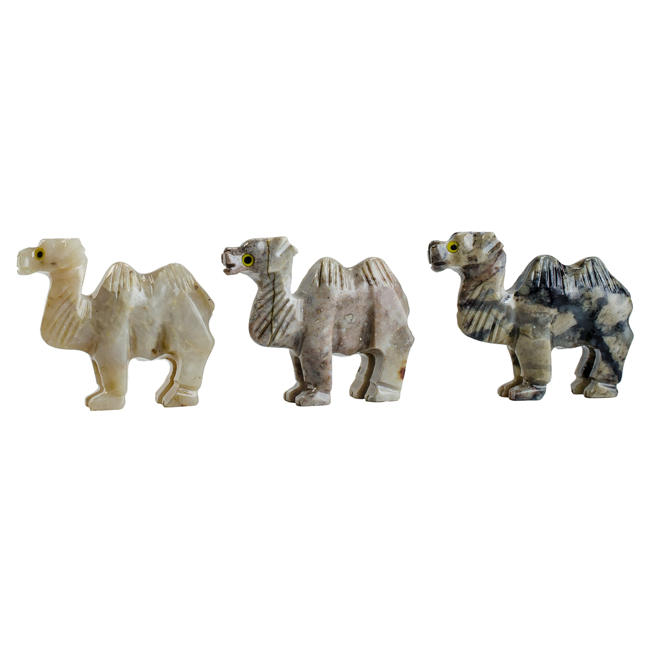 Digging Dolls : 10 pcs Artisan Camel Collectable Animal Figurine - Style 1 - Party Favors, Stocking Stuffers, Gifts, Collecting and More!