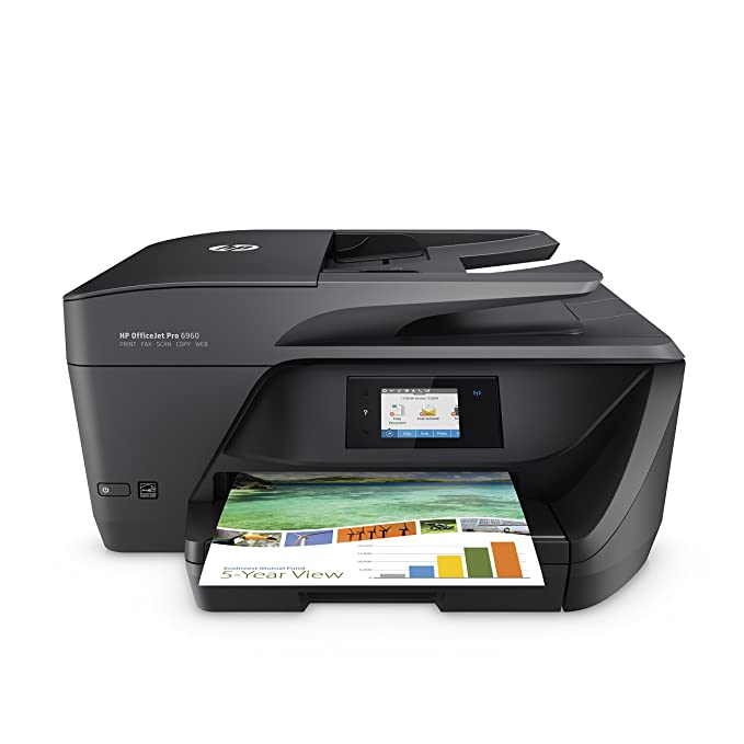 HP OfficeJet Pro 6960 Multifunktionsdrucker (Instant Ink, Drucker, Scanner, Kopierer, Fax, WLAN, LAN, Airprint) mit 3 Probemo