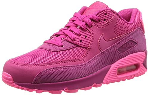 half off 579db d978a Nike Air Max 90 Premium, Women s Low-Top Sneakers, Pink (Fireberry