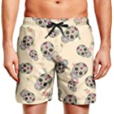 Maillot de Bain Octull Skull Skull avec Cordon de Serrage Vikkk Short de Surf pour Homme Homme Vêtements mer et natation