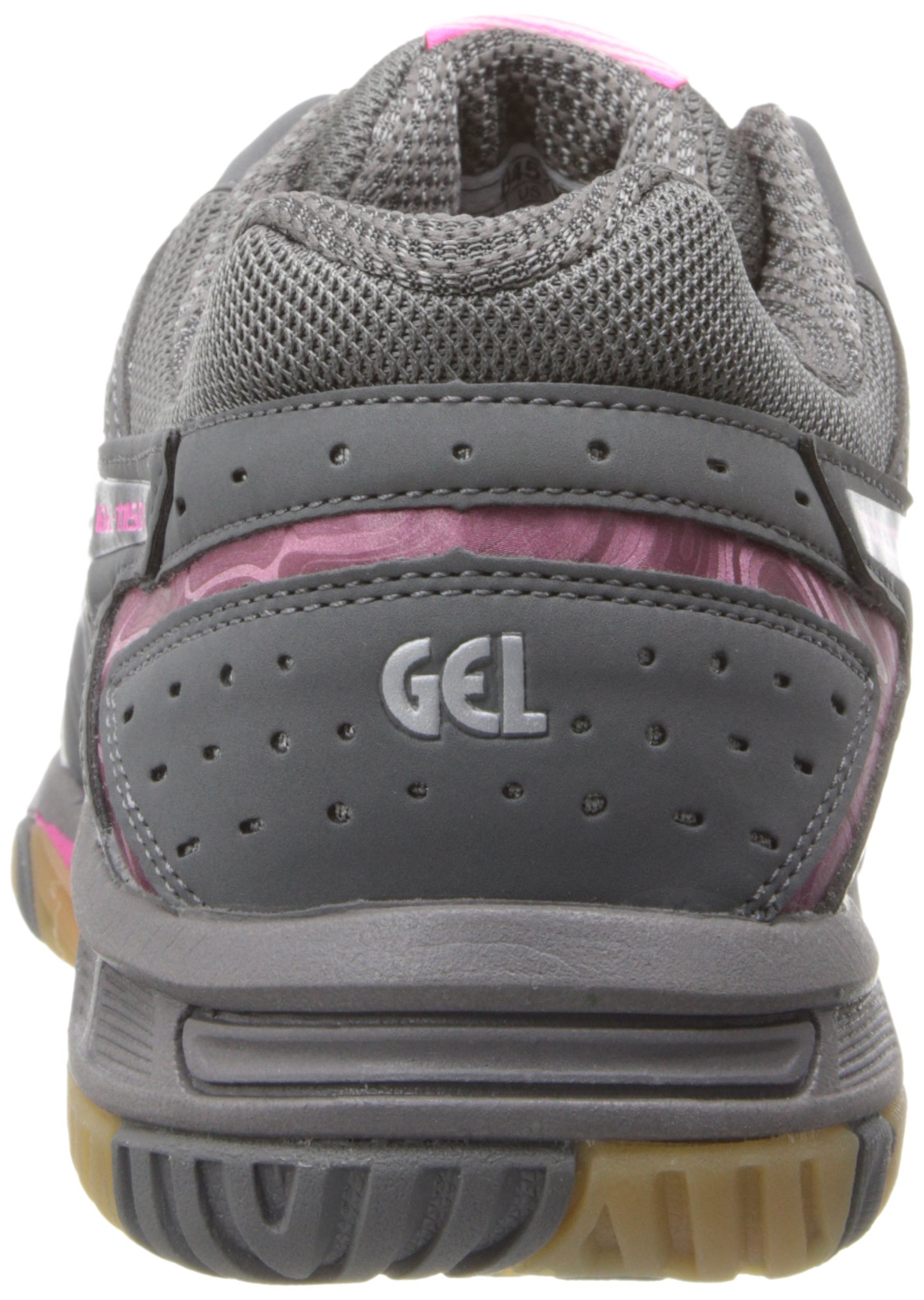 ASICS Women's Gel 1150V Volley Ball Shoe,Smoke/Knock Out Pink/Silver,8 M US by ASICS (Image #2)