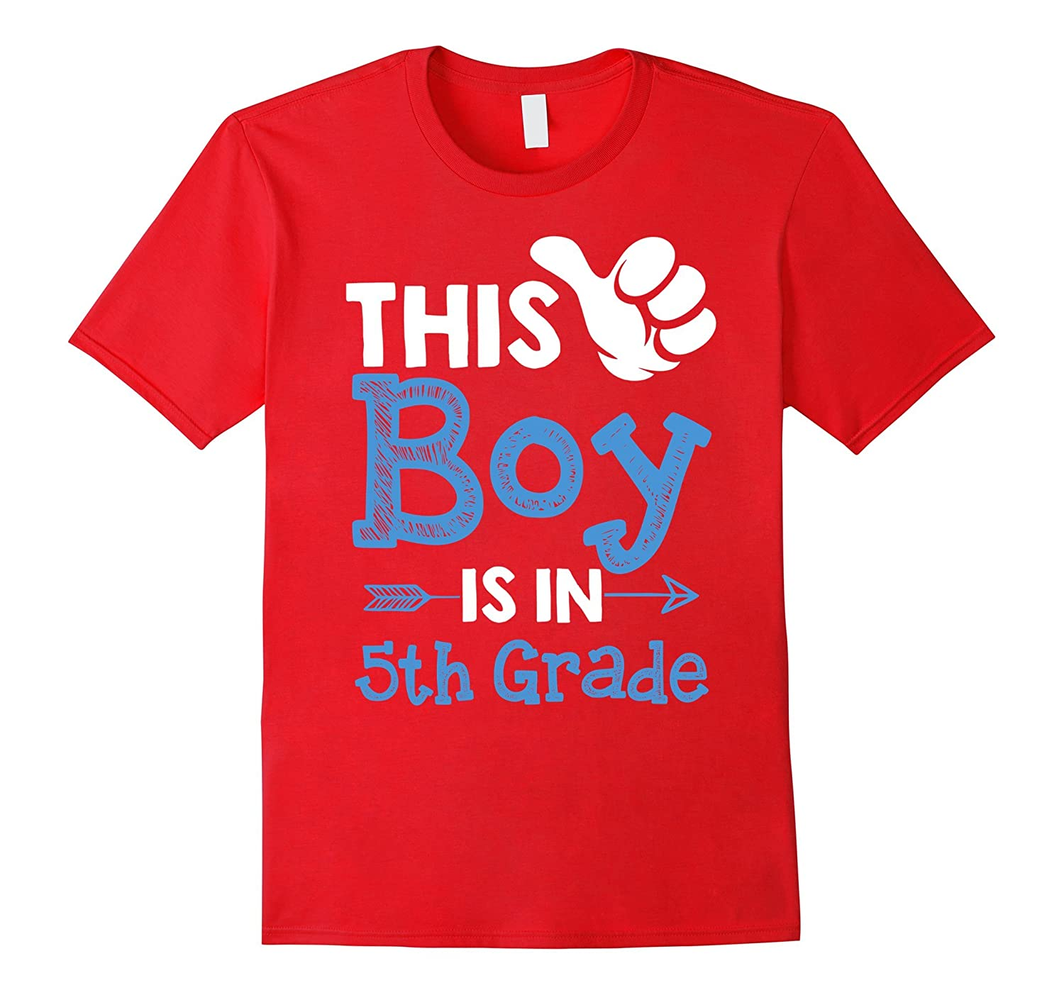 This Boy Is In 5th Grade T-shirt Students Boy School-CL
