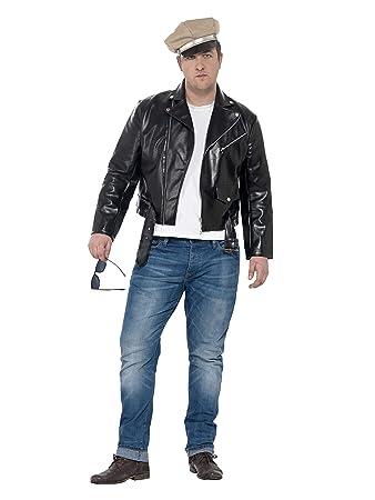 Smiffys 24463l Herren 50er Jahre Rebell Kostum Grosse L Schwarz
