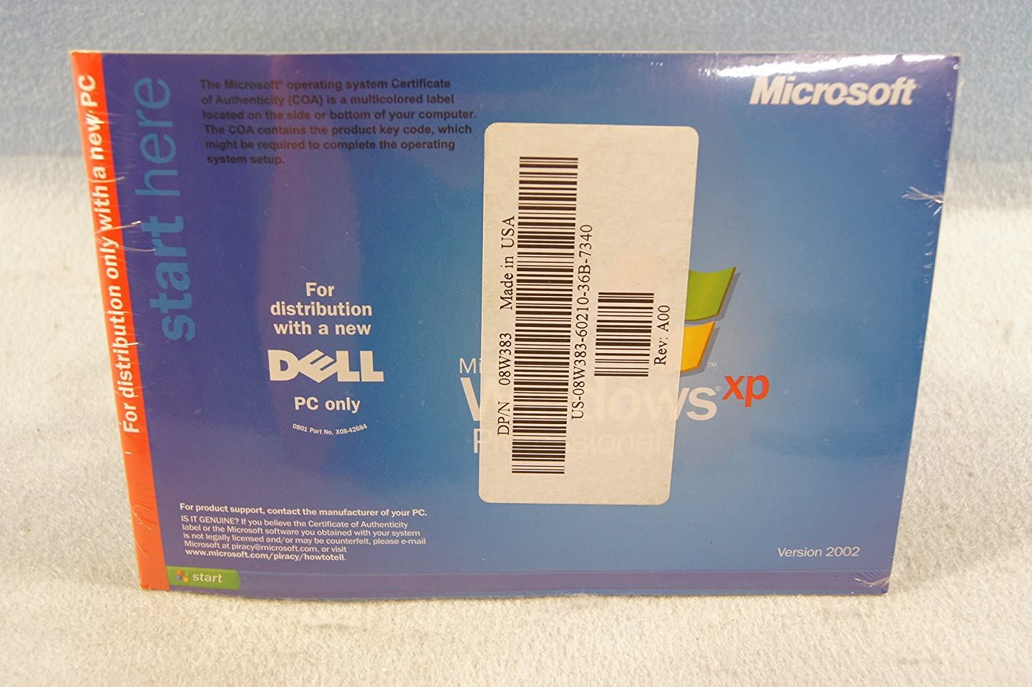 Amazon Dell Reinstallation CD Microsoft Windows XP Professional Including Service Pack 1