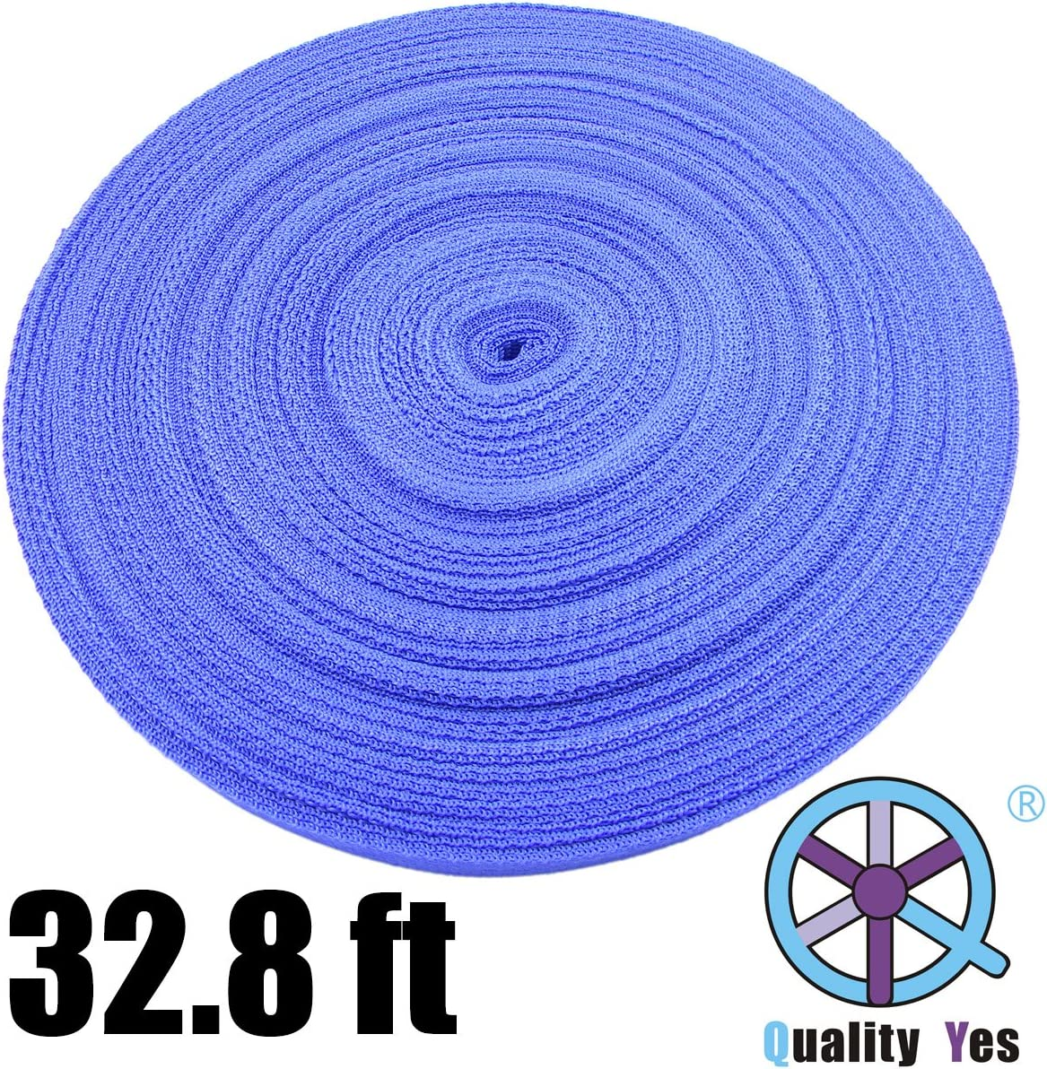Qualtiy Yes QY 10M 32.8Ft Polypro Webbing Nylon Heavy Webbing Outdoor Cord Blue Color