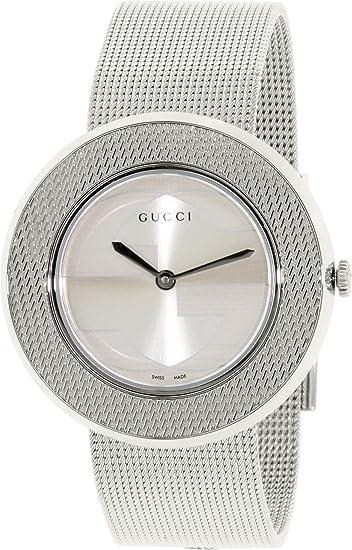 6e630c4ff82 Gucci Women s U-Play YA129407 Silver Stainless-Steel Swiss Quartz Watch   Gucci  Amazon.ca  Watches