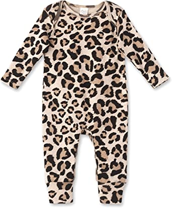 WEUIE Newborn Infant Baby Girls Boys Animal Print Backless Sleeveless Straps Romper Jumpsuit Bodysuit