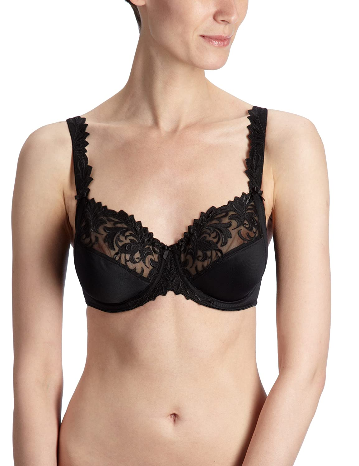 Felina 518-4 Womens Passion Black Embroidery Underwired Support Coverage Full Cup Bra: Amazon.es: Ropa y accesorios