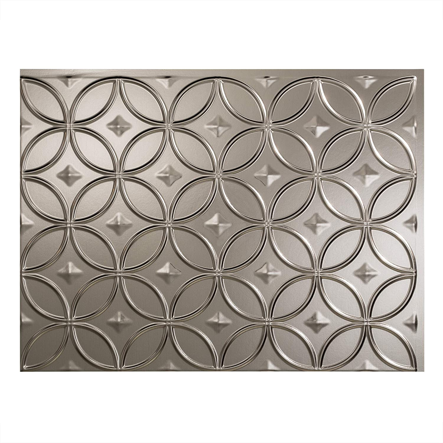 - FASÄDE Rings Decorative Vinyl Backsplash Panel In Brushed Nickel
