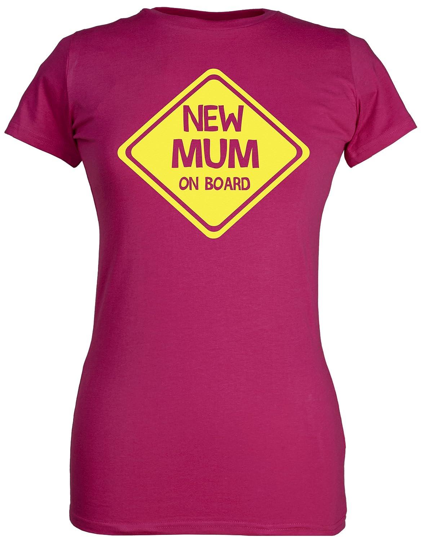 New Mum On Board Spoilt Rotten 100/% Coton Bio Femme T-Shirt
