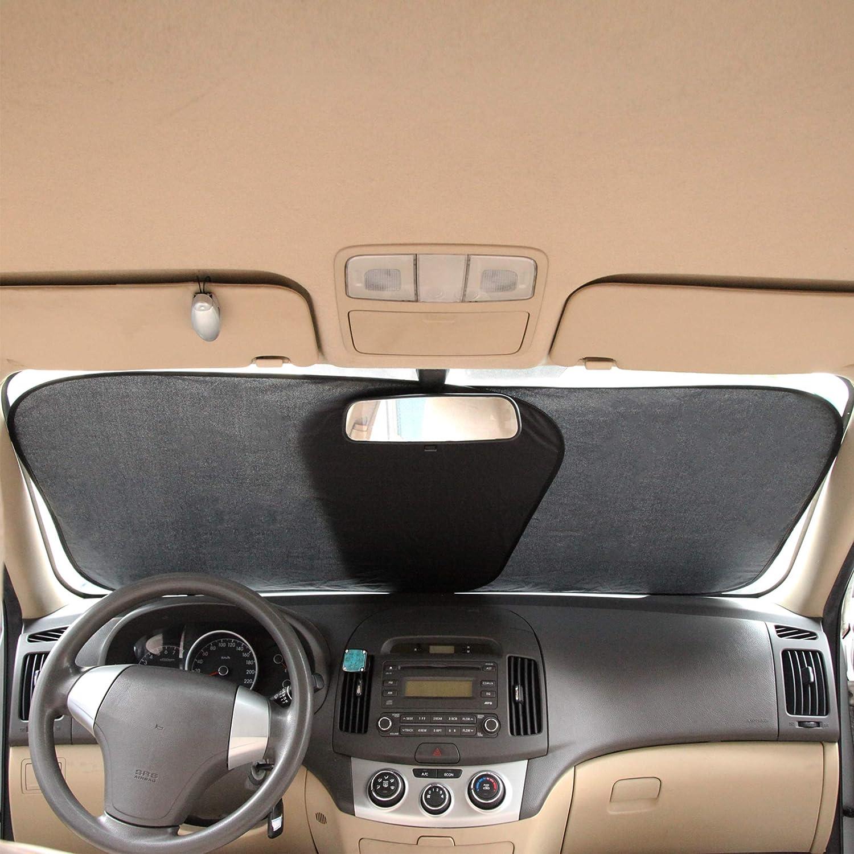 CARTMAN Windshield Sun Shade 2pk 30.7 61 x 28 Car Front Window Sunshade