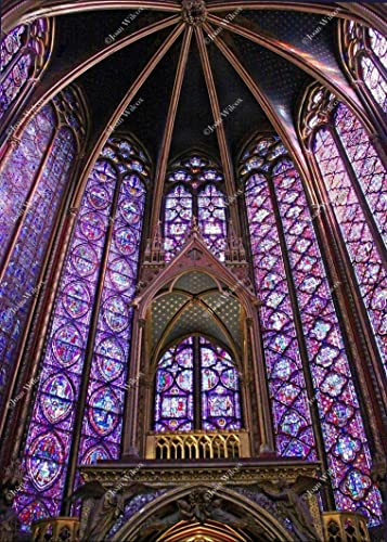 Beautiful Sainte Chapelle Paris France Europe Stain Glass Windows Gothic Architecture Buildings Original Fine Art