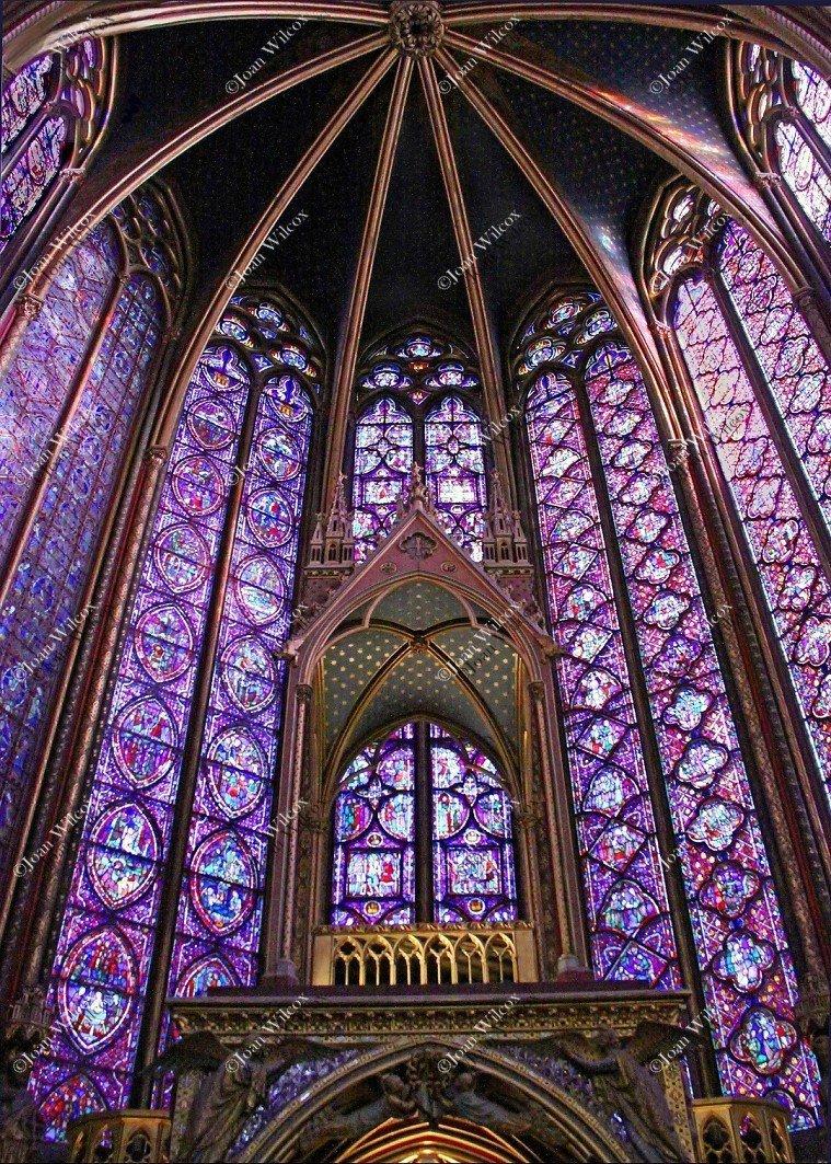 Beautiful Sainte Chapelle Paris, France Europe Stain Glass Windows Gothic Architecture Buildings Original Fine Art Photography Wall Art Photo Print