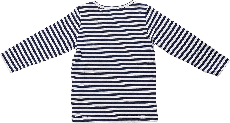 Fishermen Kinder Langarm-T-Shirt Michel Blau//Wei/ß Schmal Gestreift