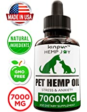 Natural Hemp Oil for Dogs & Cats - 7000mg - Pet Hemp Oil - Separation Anxiety & Stress Relief - Supports Mobility, Hip & Joint, Immune System - Calming Treats for Dogs - Made in USA