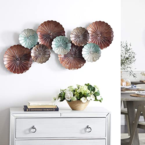 Deco 79 Contemporary Metal Floral Montage Wall Decor