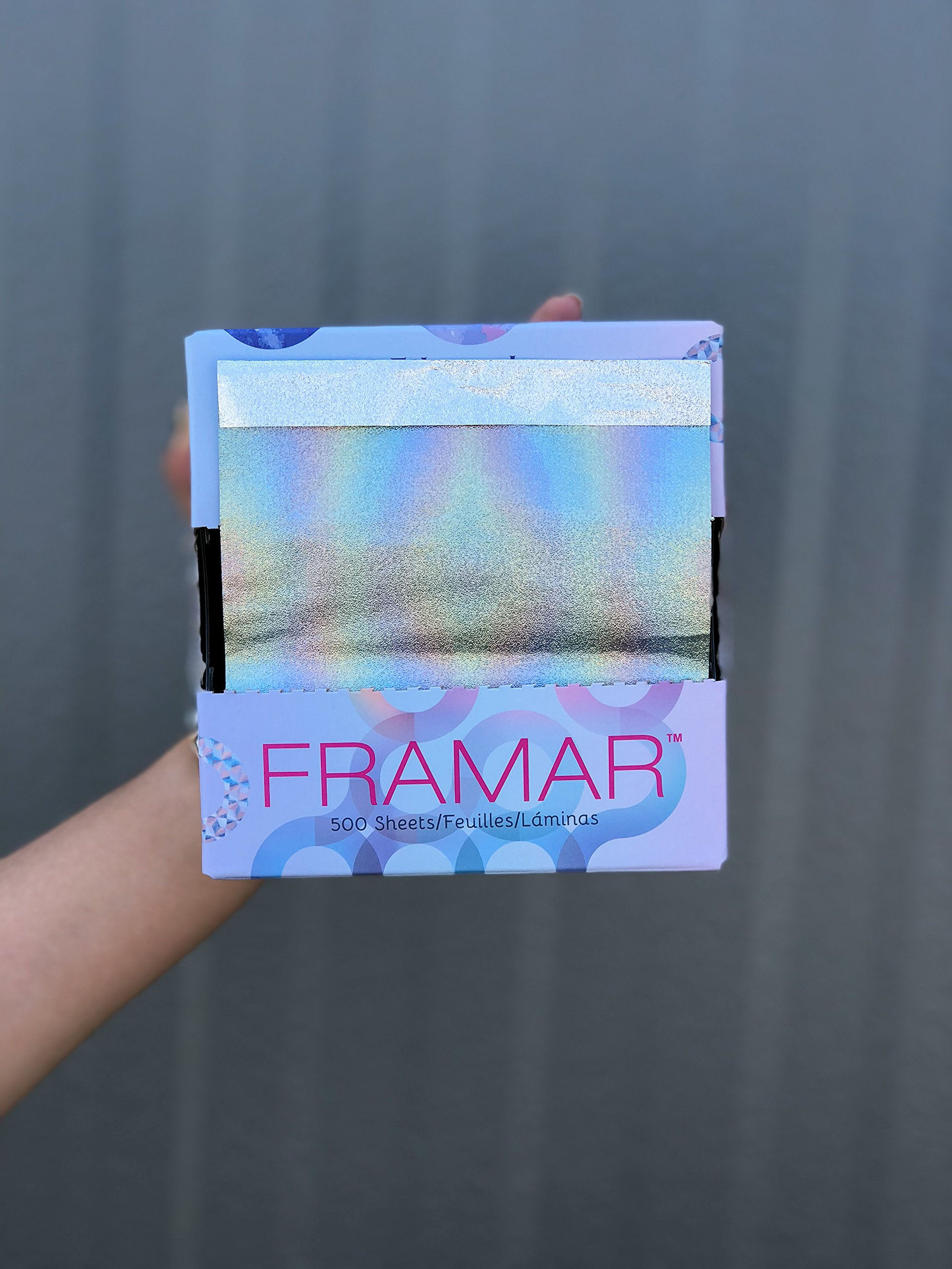 Framar Ethereal Pop Up Hair Foil, Aluminum Foil Sheets, Hair Foils For Highlighting - 500 Foil Sheets by FRAMAR