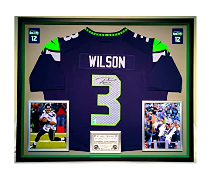 Premium Framed Russell Wilson AutographedSigned Seattle Seahawks