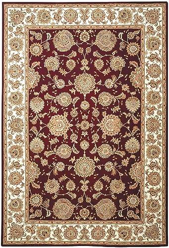 Safavieh Handmade Persian Court Veroonika Traditional Oriental Wool Rug Red/Ivory 6' x 9' Handmade 6' x 9' Indoor Living Room