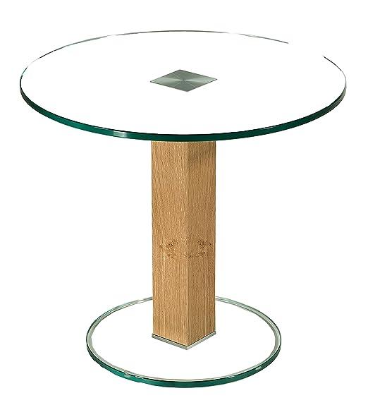 Stegert-Design Mesa de Esquina Sydney-BP con Placa de Cristal de ...