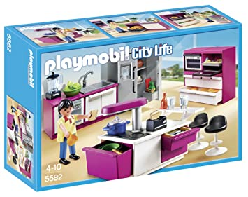Amazon.com: PLAYMOBIL Modern Designer Kitchen Set: Toys & Games