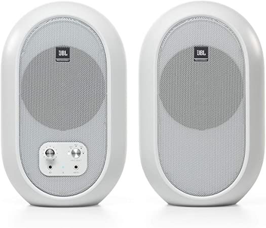 Jbl Professional 1 Series 104 Bt Compact Desktop Reference Monitors With Bluetooth White Sold In Pairs Jbl104 Bt Wh Musical Instruments