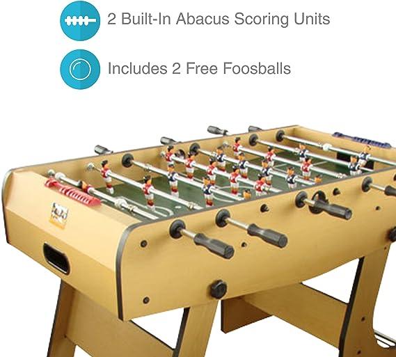 RENÉ Pierre Winjoy plegable mesa de futbolín con barras de ...