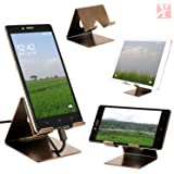 YT Mobile Phone Metal Stand / Holder For Smartphones and Tablet - Antique Gold (Proudly MADE IN INDIA)