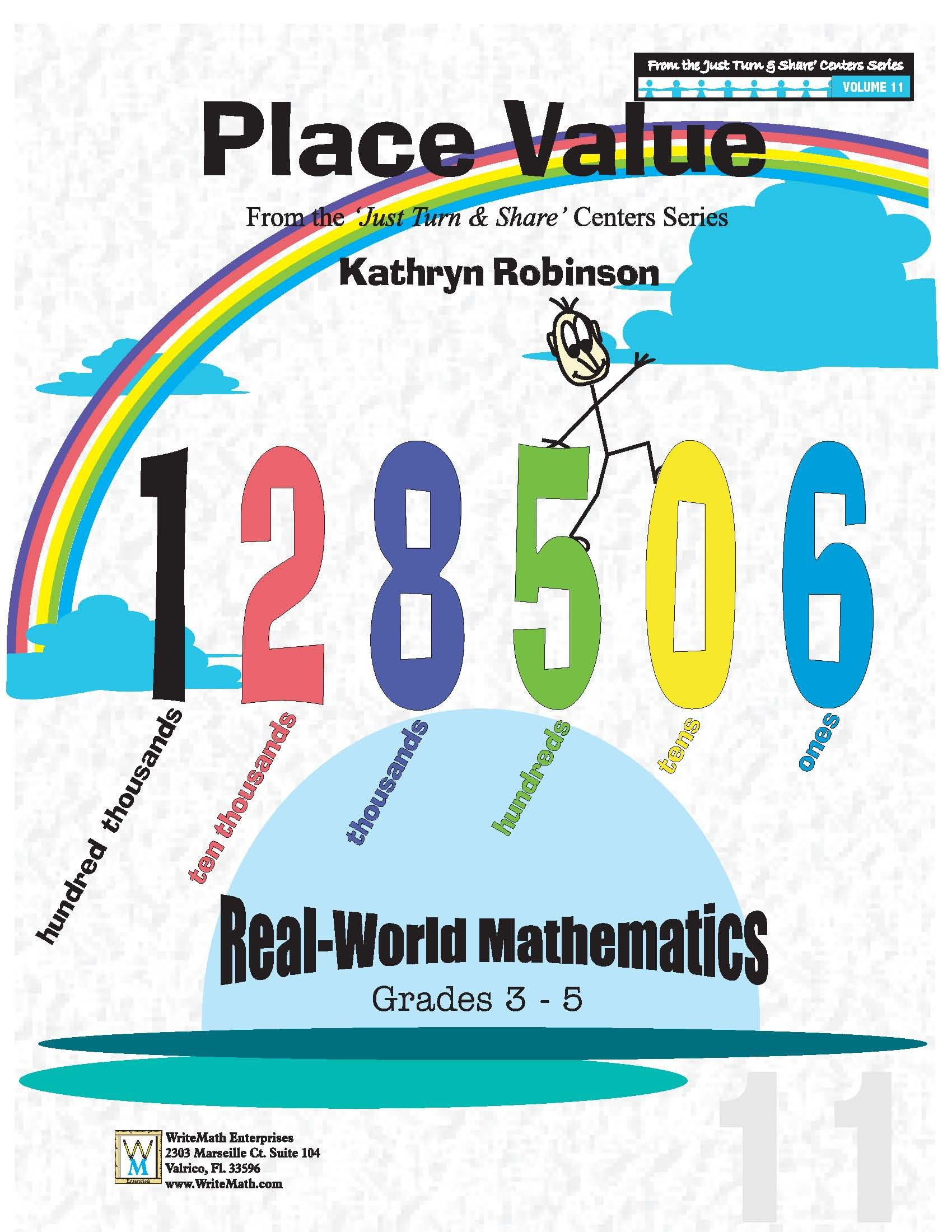 Place Value Worksheets 3rd 4th 5th Grade Math Just Turn And Share Volume 11 Kathryn Robinson 9781931970051 Amazon Com Books
