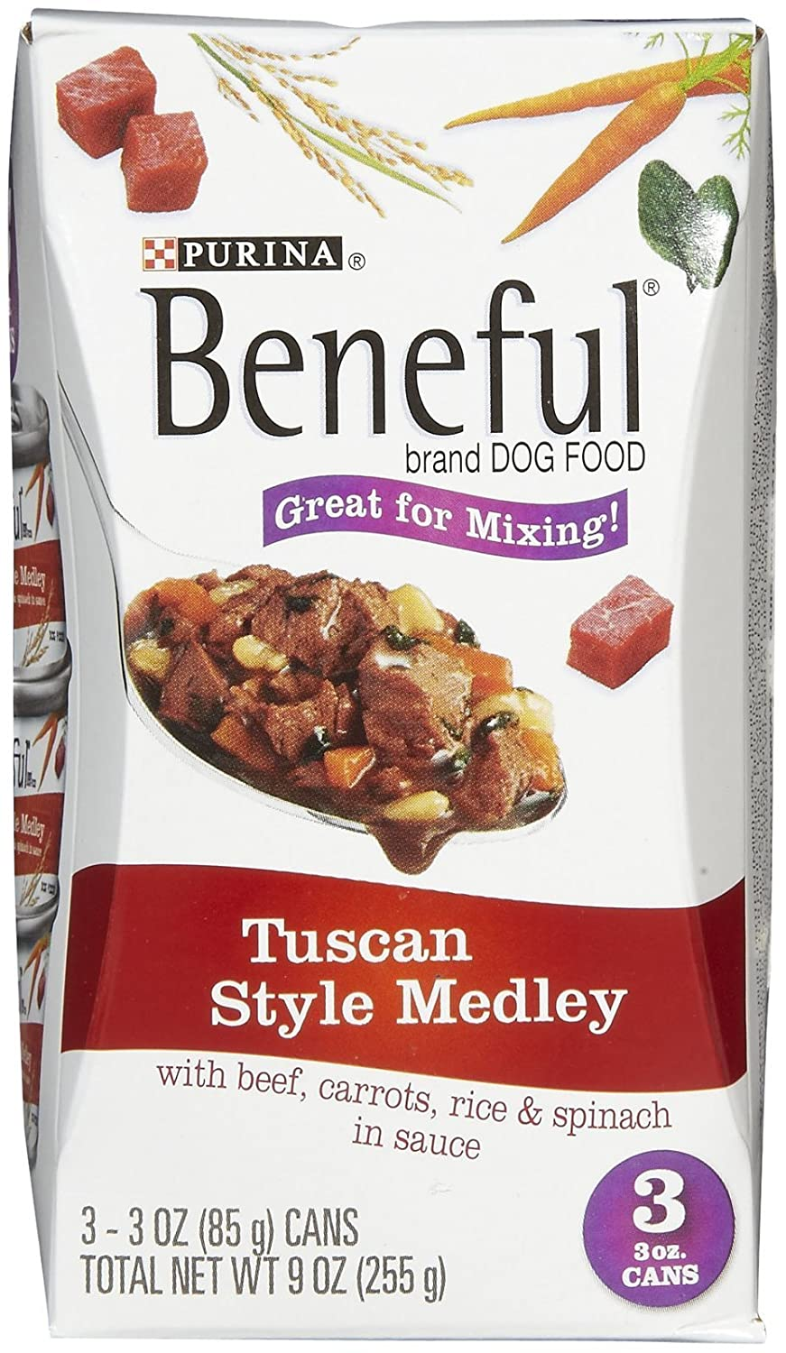 PURINA 178338 Tuscan Style Medley with Beef Food for Pets, 3-Ounce Multi-Pack