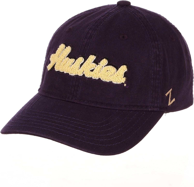 Adjustable NCAA Zephyr Washington Huskies Womens Laurel Relaxed Hat Primary Team Color