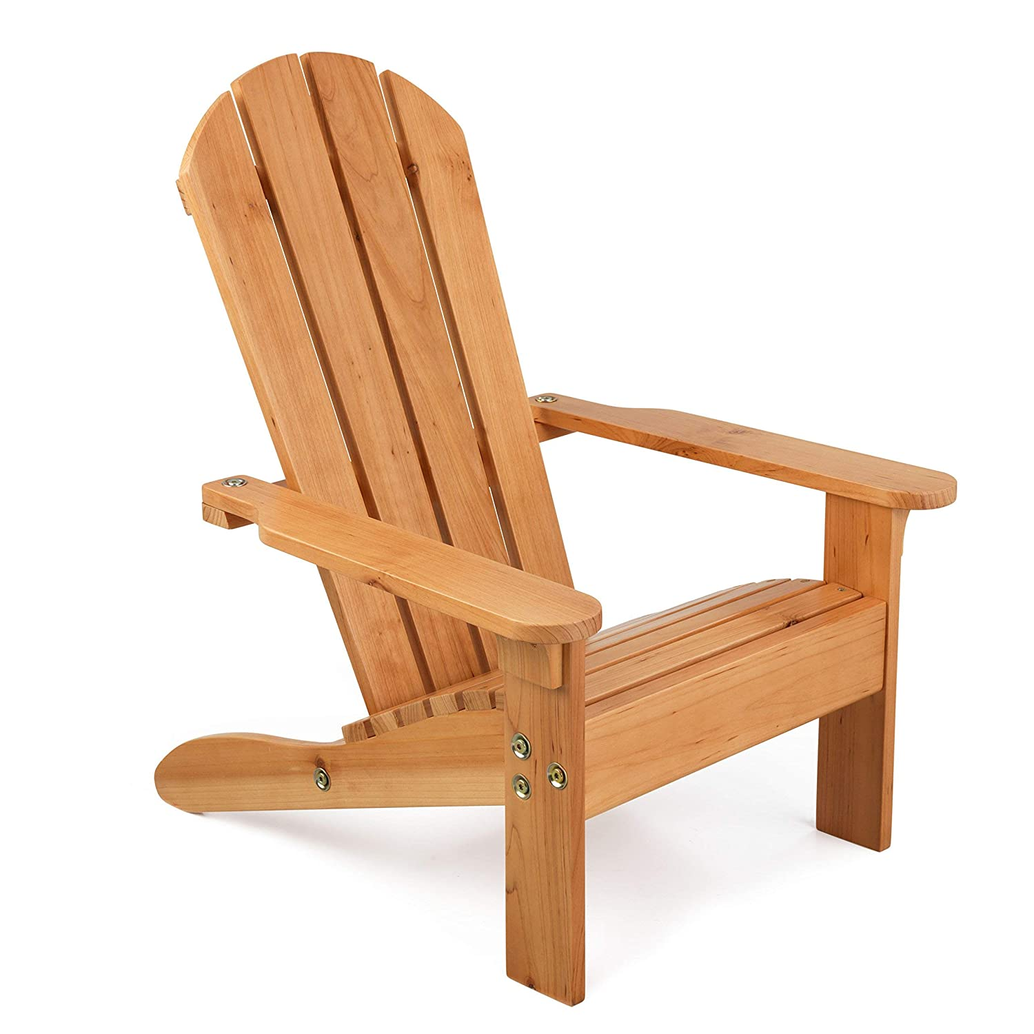 KidKraft Wooden Adirondack Chair, Children's Outdoor Patio Furniture, Weather-Resistant - Honey